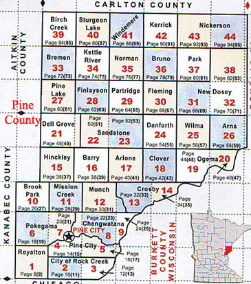 New Dosey Township Maps - County maps of minnesota